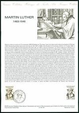 FRANCE DOCUMENT OFFICIEL 1983 MARTIN LUTHER LUTERO z1993
