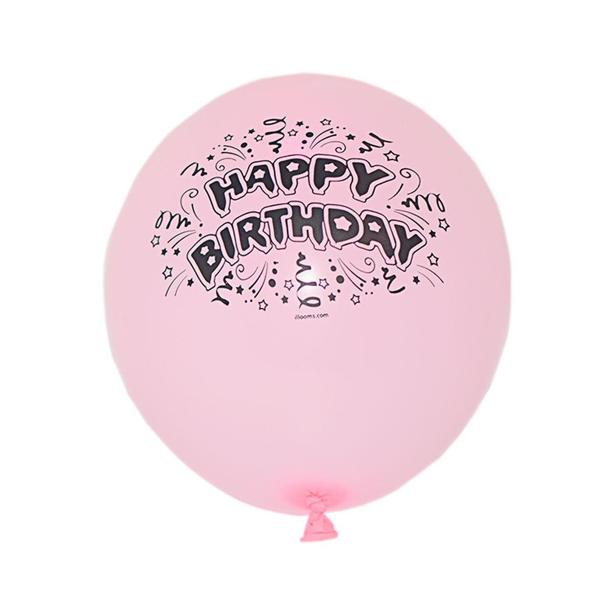 Rosa Birthday Style Led Luminous Light Up Illoom Balloons Party