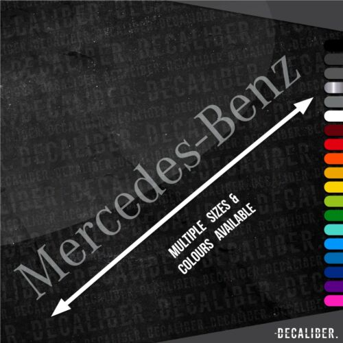 Décalque Mercedes Benz Autocollant Plusieurs Tailles /& Couleurs Van Voiture