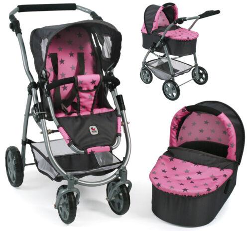 asterisco grigio-rosa Bayer Chic 2000 bambole carrello Emotion 2in1