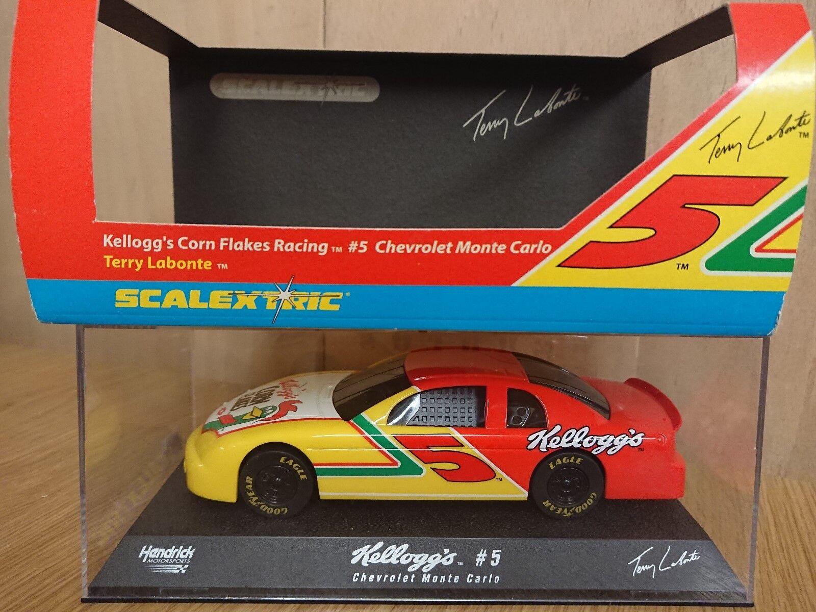RARE SCALEXTRIC Chevy Monte Carlo Kellogs Cornflakes Racing No.5 Terry Labonte
