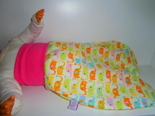 ♥Pucksack♥Elefanten♥Schlafsack♥Strampelsack♥Baby♥0-2 Jahre♥Handmade♥Mädchen♥