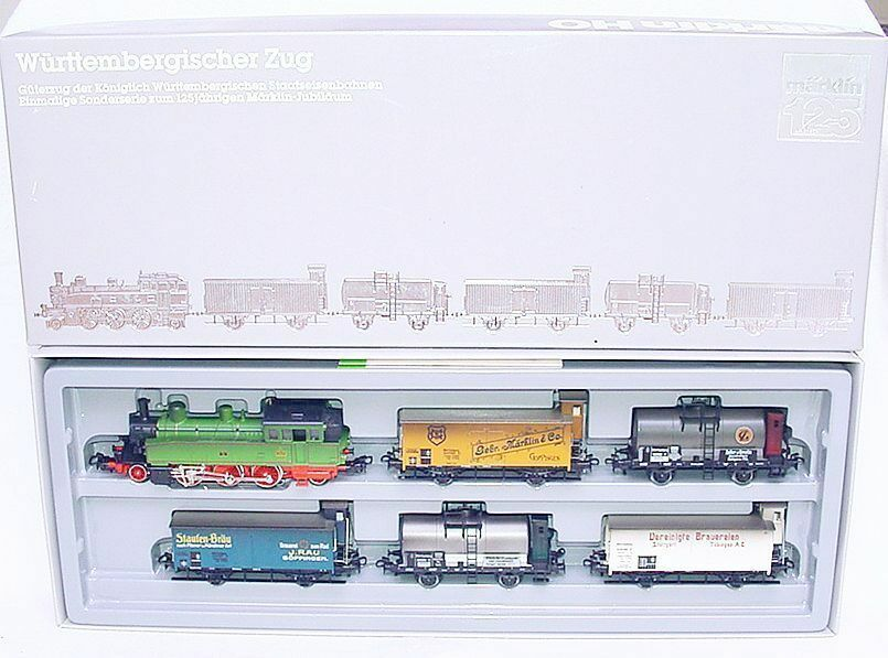 Marklin HO AC K.W.St.E LOCOMOTIVE T5  WÜRTTEMBERGER  & GOODS VAN WAGON Set MIB