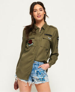 Image is loading New-Womens-Superdry-Emma-Military-Shirt-Khaki 030f39cf9a4