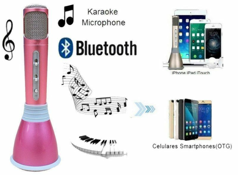 Mini Handheld Wireless Bluetooth Karaoke Player Microphone Speaker KTV Mic