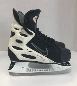 size 7 better great prices Details about Vintage Nike Zoom Air with Tuik blades Rare Ice Hockey Skates  size 5 junior jr