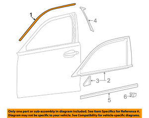 REAR RH 75755-60030 Toyota OEM Genuine MOULDING FRONT DOOR WINDOW FRAME