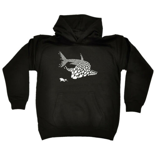 Shark Diver New Scuba Diving Scuba Diving Kids Childrens Hoodie Hoody Funny