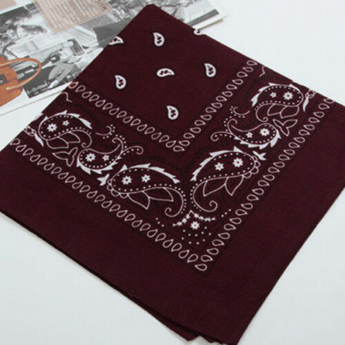 Unisex Large Square Paisley Kerchief Sports Bandana Headwear 20 Color for Choice