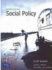 Introducing Social Policy by Michael Sullivan, Sarah Payne, Cliff Alcock (Paperback, 2000)