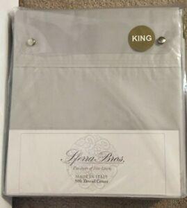 Sferra Light Gray 500 TC 4 Piece King Sheet Set NWT