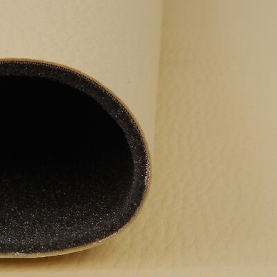 Kunstleder Kaschiert  Leder PVC Möbel Sitzbezug Meterware Polster Beige T131/_01