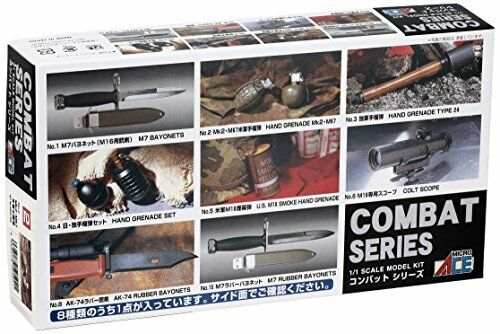 Micro Ace 1/1 Combat set No.02 US military grenade MK2? M67 Plastic