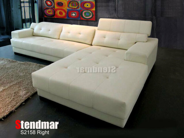 2-Piece Modern Microfiber Fabric Sectional Sofa Set S2158M