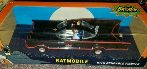 "NJ Croce 10/"" Classic TV Series Batmobile with Bendable Figures"