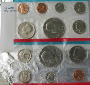1980 P and D United States Mint Uncirculated 13 Coin Annual BU Set with Envelope