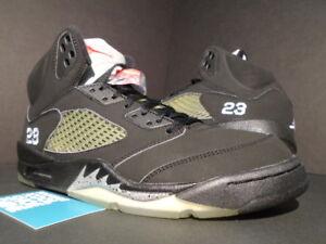sports shoes 52673 fb5da Image is loading 2006-NIKE-AIR-JORDAN-V-5-RETRO-BLACK-