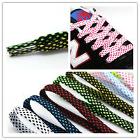 Double layer Flat Shoe Laces Boot Trainer Shoelaces wide 8 mm Length 100cm-140cm