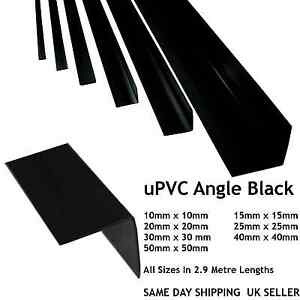 Black Plastic Pvc Corner 90 Degree Angle Trim All Sizes 10