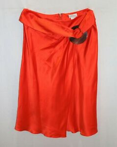 Collette-Dinnigan-Brand-Red-Silk-Wrap-Skirt-Size-XS-LIKE-NEW-AN02