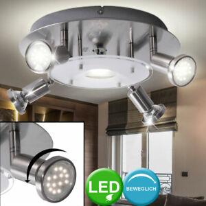Decken Leuchte Schlafzimmer Strahler Dielen Lampe Spot Rondell schwenkbar GU10