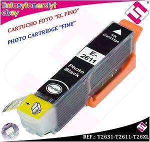 TINTA-NEGRA-FOTO-FINO-T2631-T2611-26XL-COMPATIBLE-NONOEM-EPSON-CARTUCHO-NEGRO