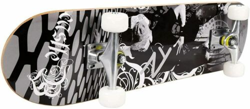 """US 31/""""x8/"""" Complete PRO Skateboard 9Layer Canadian Maple Wood Double Kick Tricks~"""