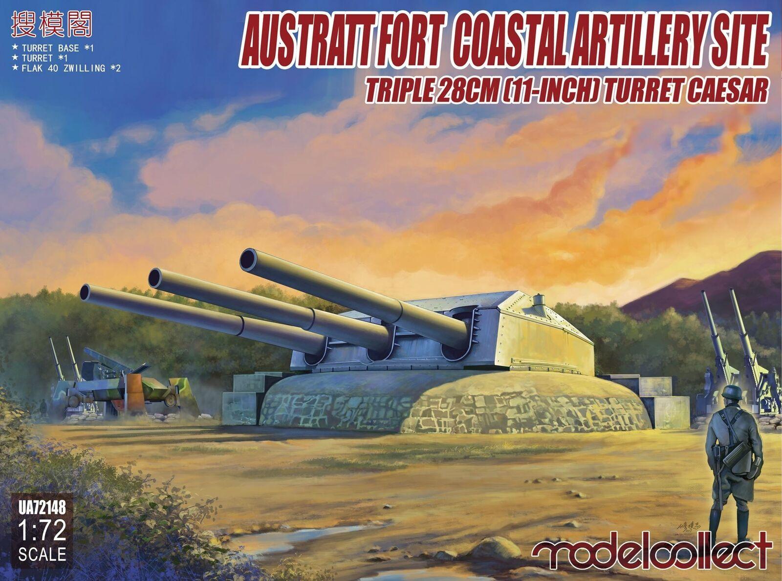 Model Collect 1 72 Austratt Fort Coastal Artiglieria Site Triplo 28cm (11inc)