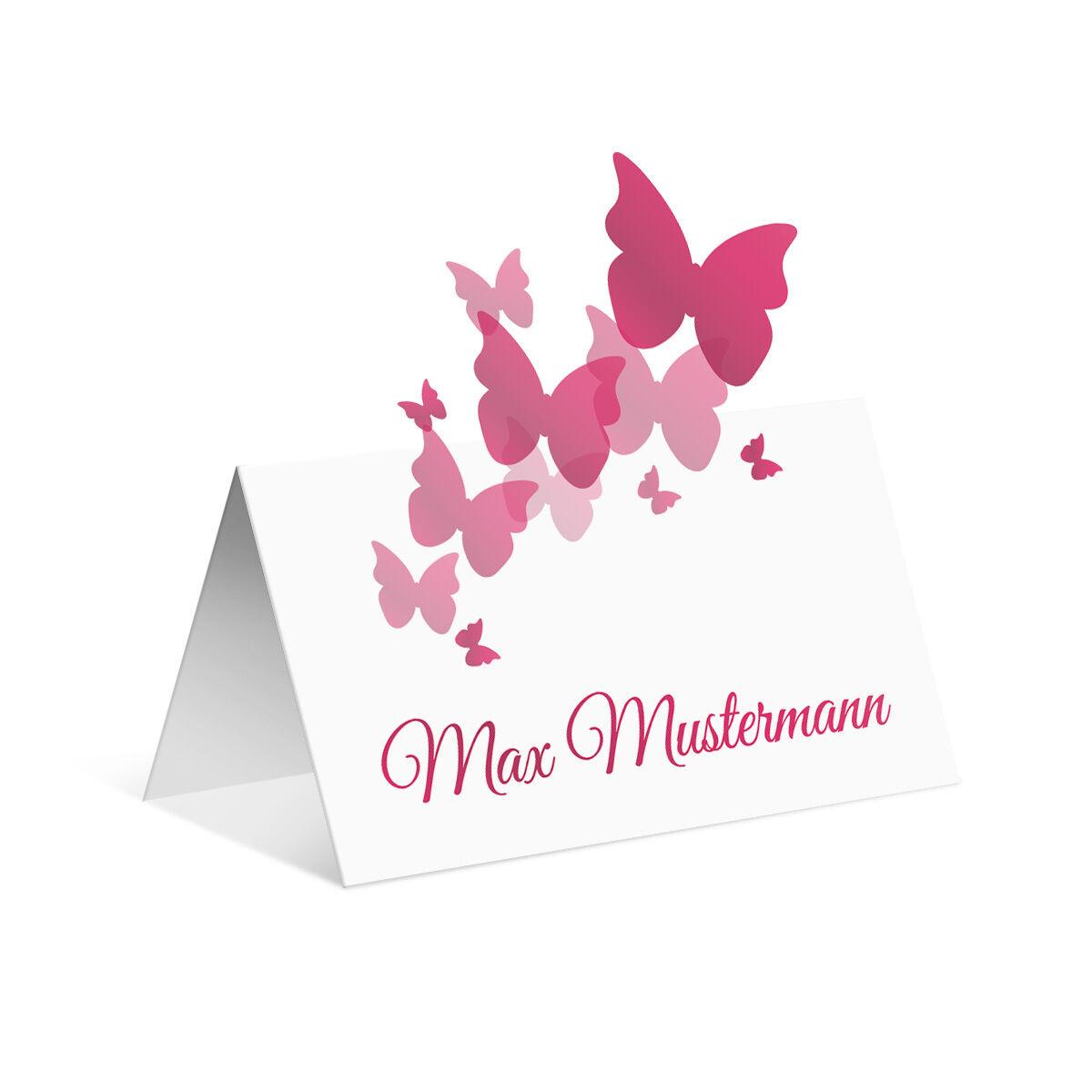 Pop up Tischkarten Hochzeit - Schmetterlinge in Rosa - Platzkarten Namenskarten  | Großer Verkauf  | Hohe Qualität Und Geringen Overhead