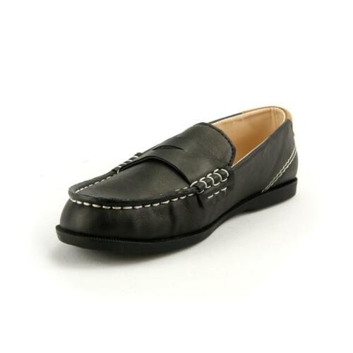 Boy/'s Loafer Casual Moccasin Shoes Pu Comfortable Slip on Little kids Grey Black