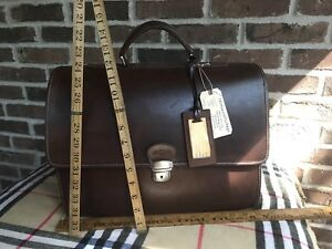 VINTAGE-TRAMONTANO-ITALIAN-CALFSKIN-LEATHER-MACBOOK-PRO-15-BRIEFCASE-BAG-R-1498