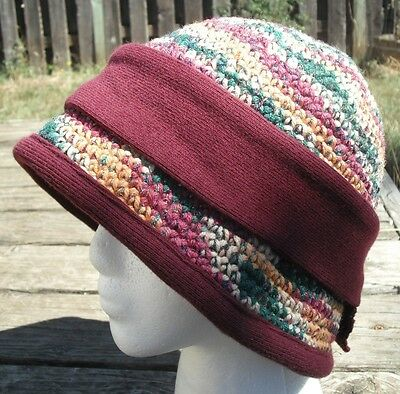 Beautiful Earth Colors Medium Size Crocheted Cloche - Handmade by Michaela