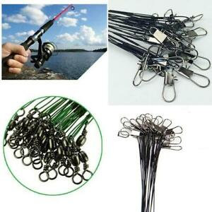 20Pcs-Fishing-Traces-Wire-Leader-Anti-bite-Stainless-Steel-Lures-Hook-Swivel