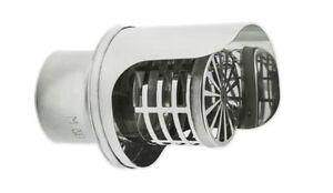 Terminale inox modello orizzontale d 80 mm per tubi canna - Tubi x stufa a pellet ...