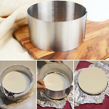 Adjustable Stainless Steel Round Mousse Cake Ring Mold Layer Slicer Cutter DIY