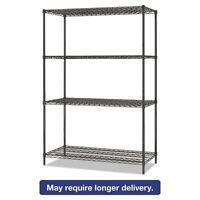 Alera All-purpose Wire Shelving Starter Kit, 4-shelf, 48 X 24 X - Alesw204824ba on sale