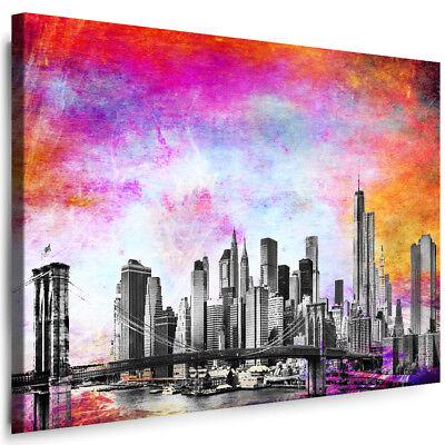 Wandbild  Leinwandbild Kunstdruck 129972FW Nowy York  Stadt städtisch,3D und G