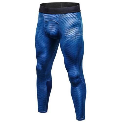 Mens Compression Leggings Dry Cool Sports Pants Running Slim Fit Jogging Bottoms