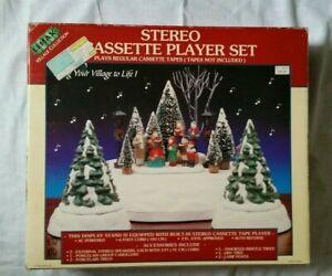 Lemax Christmas Stereo Cassette Player Village Set Xmas Tree Display