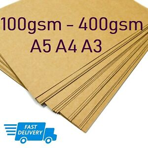 A3-A4-A5-BROWN-KRAFT-CARD-BLANK-SHEETS-PAPER-CRAFT-GIFT-TAG-BAG-LABEL-170-300gsm