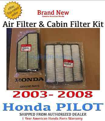 Genuine OEM Honda 2003-2007 Accord 4cyl Engine Air /& Cabin Filter