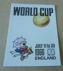 Panini World Cup Story England Poster World Cup Willie Sticker #17 RARE MINT