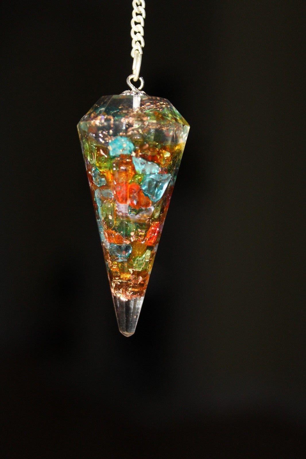 Reiki Crystal Healing DOWSING GEMSTONE ORGONE Point Pendulum FREE POST UK