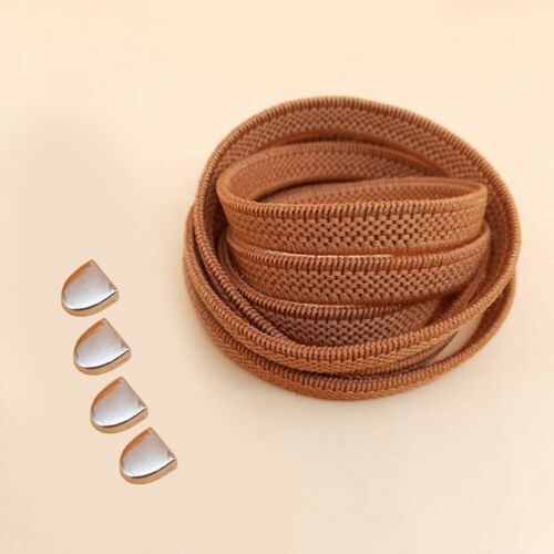 Lazy Shoe laces Free Tie Elastic Flat No Tie Shoelaces For Sneaker Casual Shoes