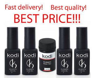 Kodi-Professional-Rubber-Base-Rubber-Top-8-12-14-30-35-ml-Gel-SALE-No-Sticky