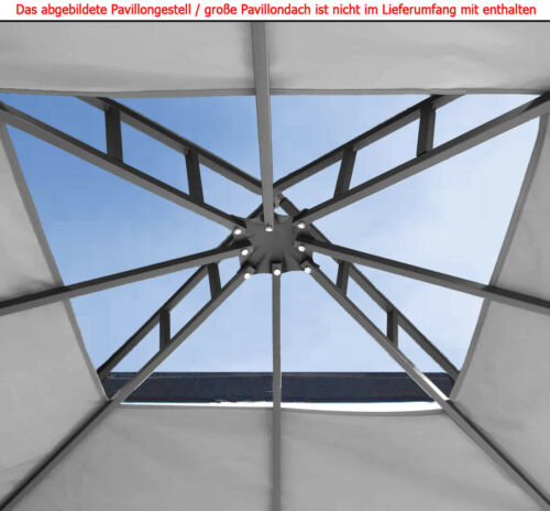 ERSATZDACH WASSERFEST 270g//m² 2,98 PVC Pavillondach wasserdicht ~3x3m Option