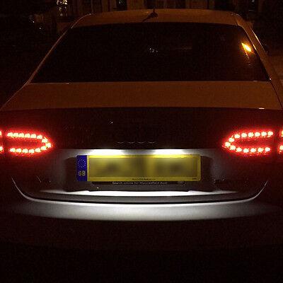 Fits Audi A1 8X 1.6 TDI Blanc 6-SMD DEL 39 mm Feston 12 V Number Plate Light Ampoule