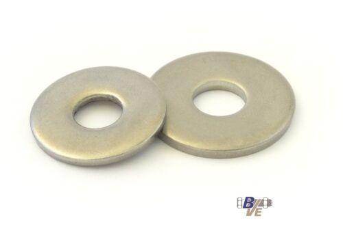 200 rondelles DIN 9021 Acier Inoxydable a2 v2a 10,5 m10