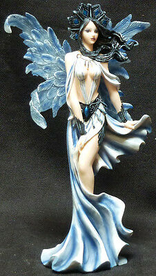 WIND QUEEN FAIRY   with Crown Statue Figurine  H10""