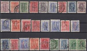 K3796-GREECE-TURKEY-OFFICE-1912-1914-USED-SEMI-MODERN-LOT-CV-645